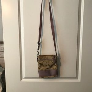 Coach bag with lavender detail